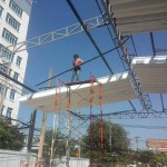 Thi công mái hiên cho nhà hàng Xưa và Nay – Q. Tân Phú – TP HCM