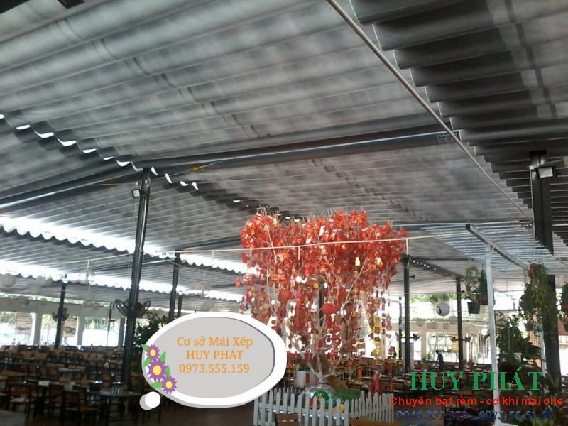 Thi công mái che Nhà hàng Hoa Biển - Thủ Đức - TP HCM