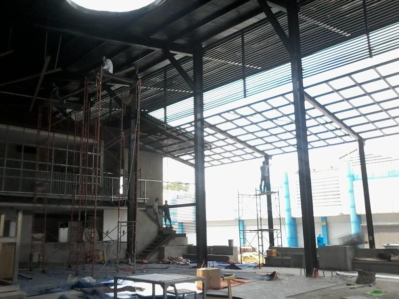 Thi công cơ khí mái hiên quán nhậu tại số 1 Đồng Nai - Q10