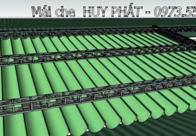 Cty thi công mái bạt che di động HUY PHÁT – Bảng giá bạt rèm mái che di động ( mái hiên di động, bạt Xếp kéo xếp di động )