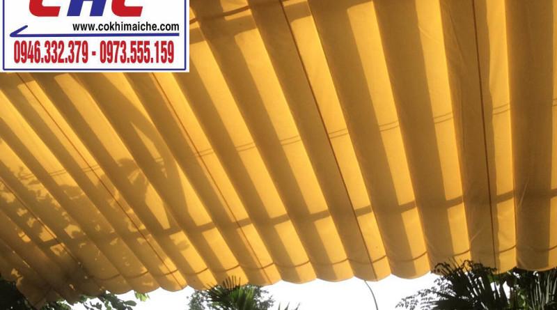 Mái che bạt dù – xếp sân nhà chung cư Liên Hệ 0946332379 Tư vấn & Thi Công