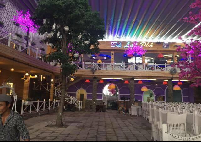 Dự án thi công mái che cho quán cafe Đà Lạt Phố