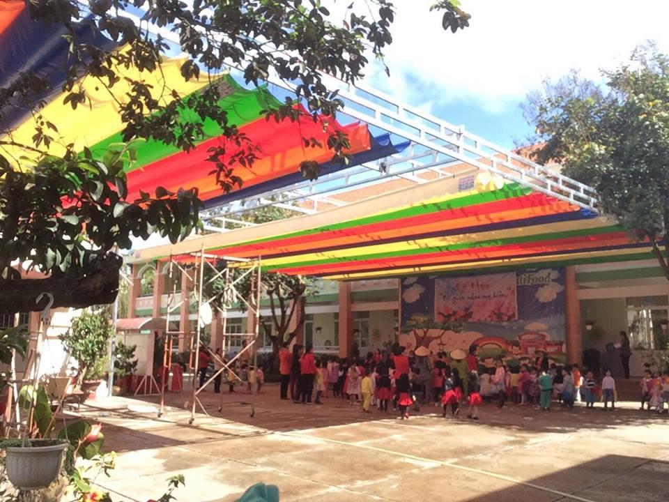Dự án mái che cho trường học - Lhe Thi công 0973555159