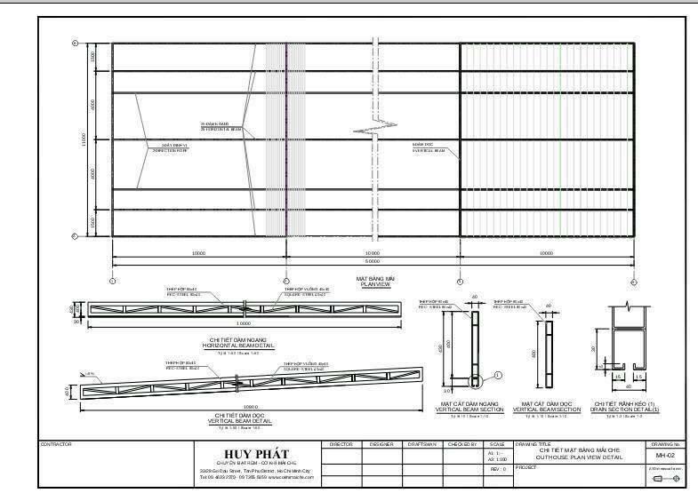 Bản vẽ thiết kế mái xếp di động 2D (cad)