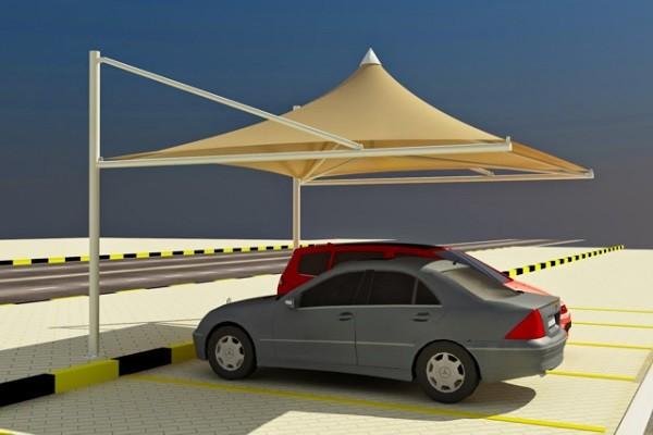 Mái che ô tô kiểu bạt dù