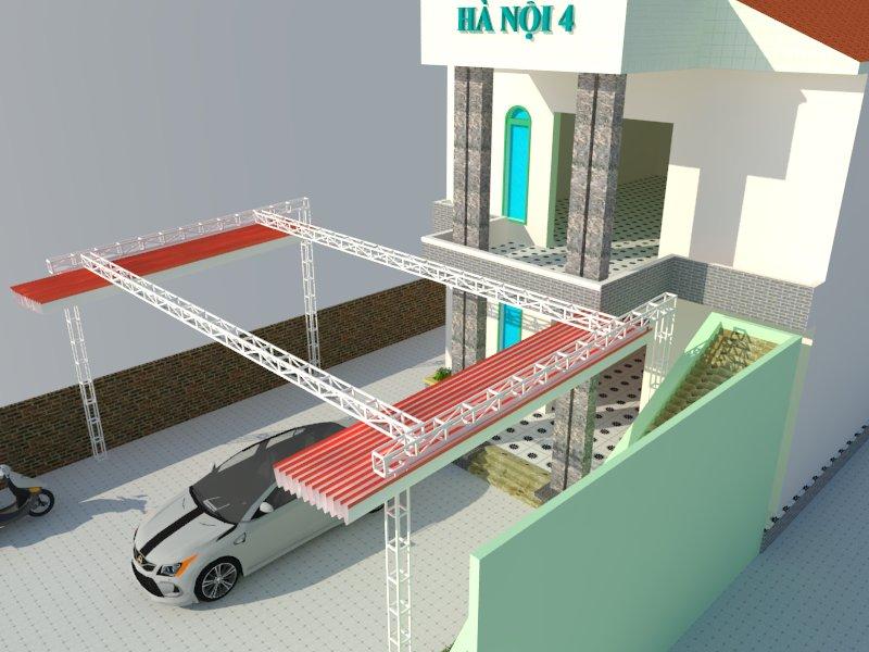 Thiết kế mái che nhà hàng Hà Nội 4. Đi linh - Lâm đồng