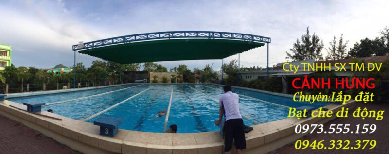 MÁI CHE HỒ BƠI ĐẸP - Thiết kế và thi công mái che hồ bơi 0973555159