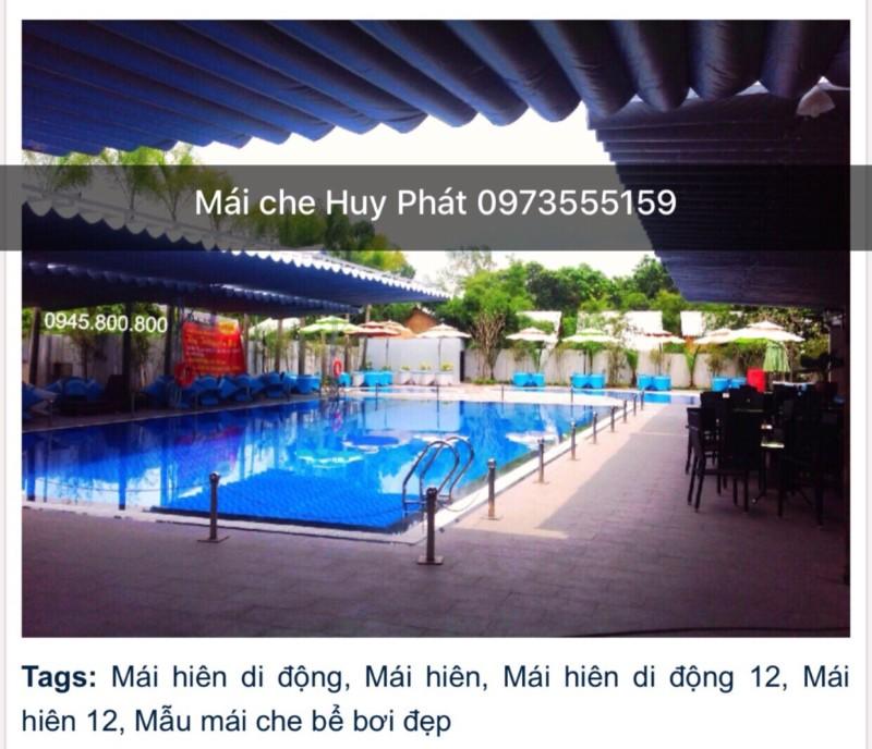 Mẫu mái che hồ bơi đẹp. Mái xếp dành cho hồ bơi. MÁI CHE HỒ BƠI ĐẸP - Thiết kế và thi công mái che hồ bơi 0973555159