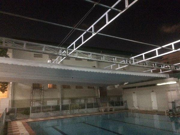 Dự án mái che cho hồ bơi trường Nhật bản. Q7 tp HCM