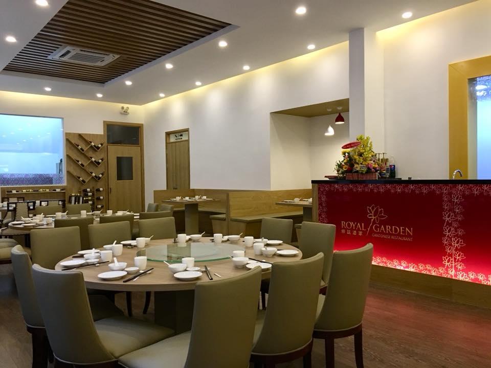 Dự án Nhà hàng Royal Garden - Bàn ghế nhìn sang trọng
