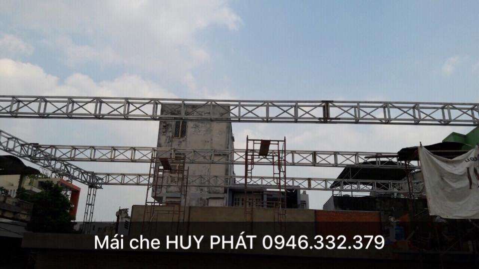 Thi công Dự án mái che nhà hàng Lộ Thiên Quán - Lê Quang Định Lhe: 0946332379