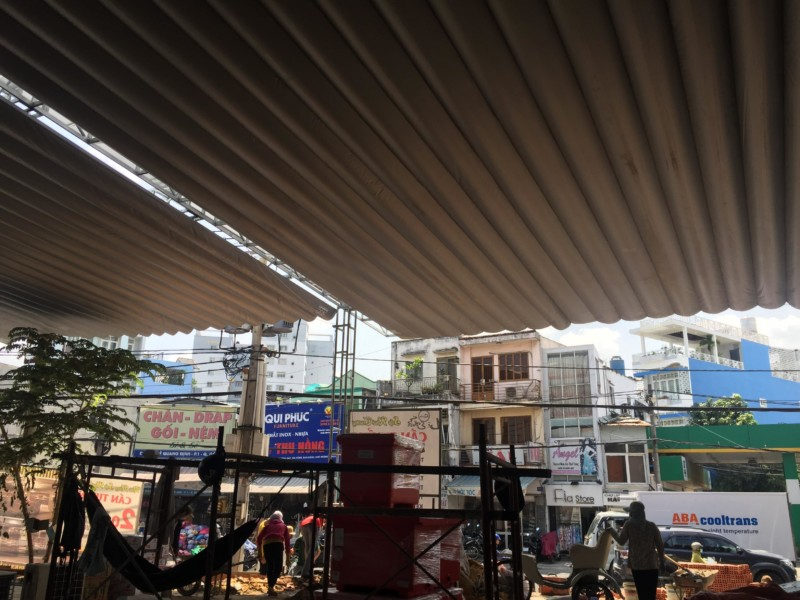 Dự án thi công mái che nhà hàng Lộ Thiên Quán - Lê Quang Định