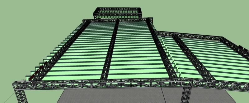 Dự án thi công mái bạt che nhà thờ Klong - tư vấn thiết kế bởi CTY TNHH SX XD CẢNH HƯNG, Dt 0973555159