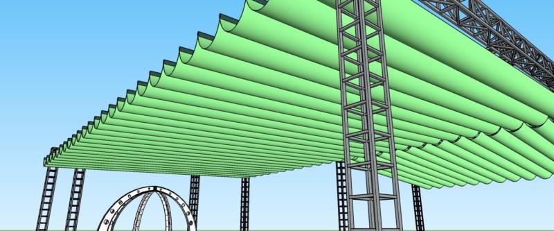 Dự án thi công mái bạt che nhà thờ Klong - tư vấn thiết kế bởi CTY TNHH SX XD CẢNH HƯNG, Email cokhi.maiche@gmail.com
