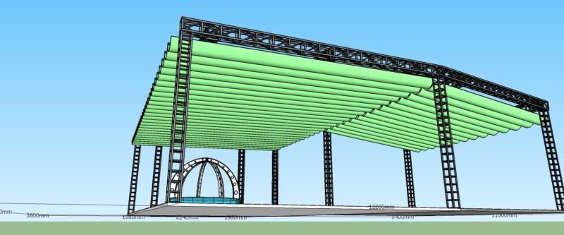 Dự án thi công mái bạt che nhà thờ Klong - tư vấn thiết kế bởi CTY TNHH SX XD CẢNH HƯNG