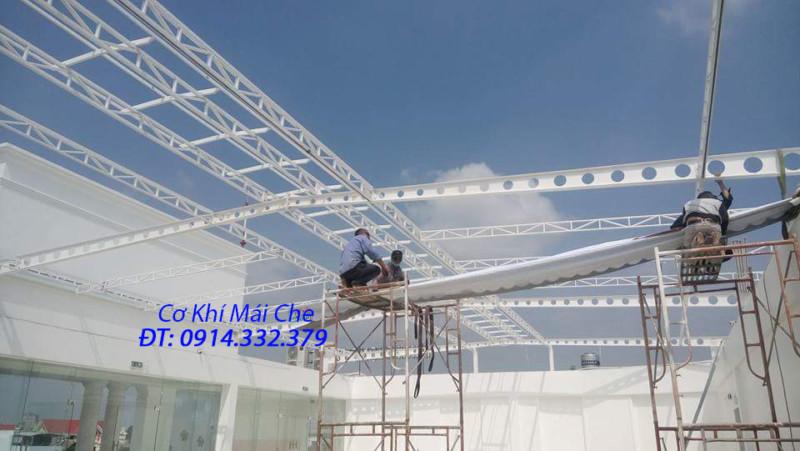 Thi công lắp đặt mái hiên di động, bạt xếp ở Hà Nội