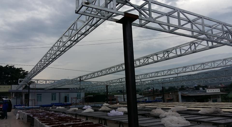 Mái che cho Xưởng Sản xuất nguyên liệu Vĩnh Tân, Đức Trọng, Lâm Đồng