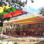 Thi công mái Bạt Xếp di động – Quán Nhậu, Cafe không gian thoáng