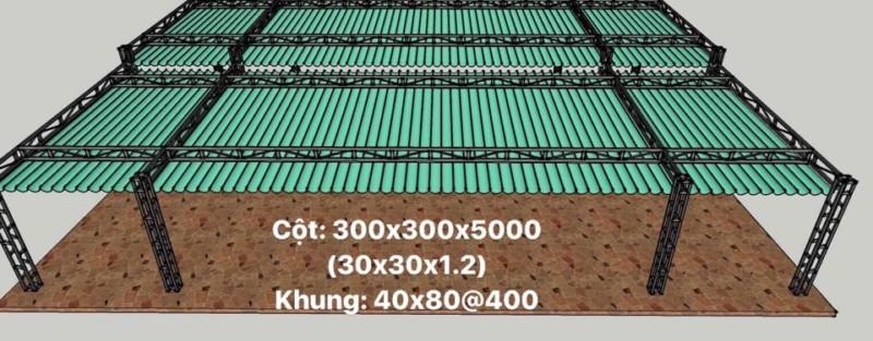 Thiết kế và thi công mái che di động bởi Cty Cảnh Hưng