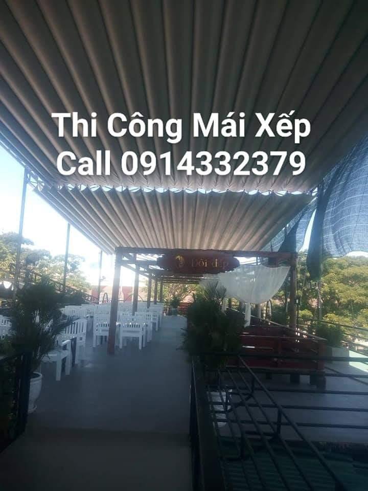 Thi công mái bạt xếp ở Nha Trang 0914332379