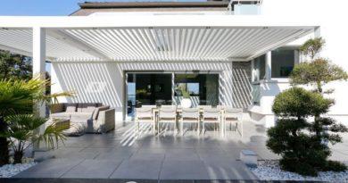 Bảng giá mái che Nhôm xếp – bioclimatic – Biệt thự, resorts…