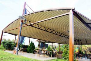 Mái che quán cafe trên sân thượng đẹp