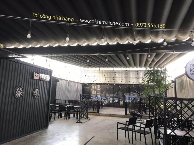 Thiết kế & thi công nhà hàng lẩu nướng - Tại Cần Thơ- Hoàn thiện công trình