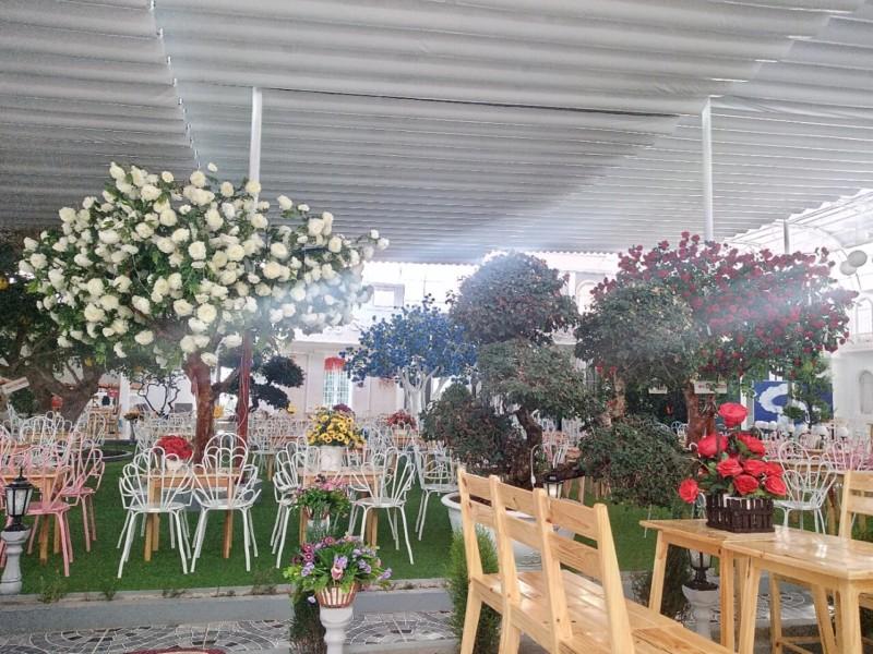 Mái bạt xếp đà lạt - quán cafe đẹp
