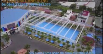 Dự án thi công mái che hồ bơi