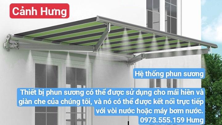 Hệ thống phun sương Thiết bị phun sương có thể được sử dụng cho mái hiên và giàn che của chúng tôi, và nó có thể được kết nối trực tiếp với vòi nước hoặc máy bơm nước.