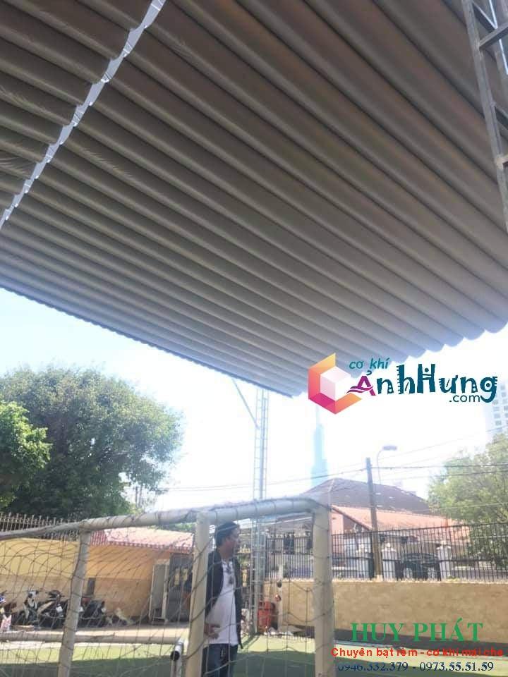 Công trình mái che di động cho sân bóng tại Quận 2 - TPHCM