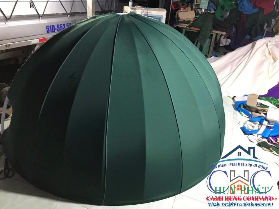Mẫu ô - dù tròn công trình quán cafe