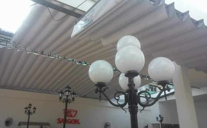 Mái hiên di động Nhà hàng Quen 19 Cộng Hòa - Tân Bình