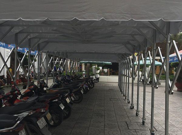 Thi công Mái che nhà để xe máy xe đạp ở bình dương, long an